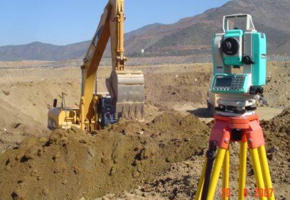 Trabajos de topografía en carretera toguí